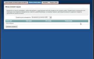 Переадресация всех портов на хост локальной сети (организация DMZ-хоста)