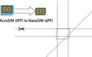 Проведение замены сим-карты на нано-карту от оператора МТС