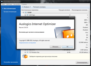 Auslogics Internet Optimizer
